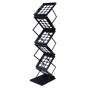 6-Pocket Pop-Up Folding Magazine Stand