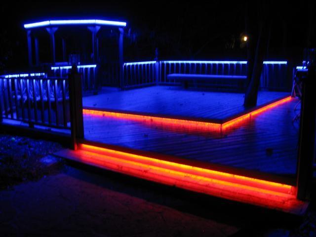 LED deck lighting patio home improvement