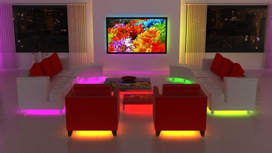 led lighting strip furniture diy